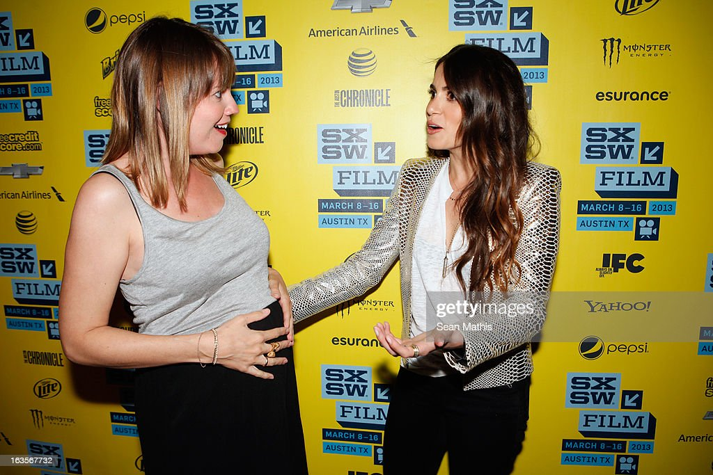 Actors Ruby Wendell and <a gi-track='captionPersonalityLinkClicked' href=/galleries/search?phrase=Nikki+Reed&family=editorial&specificpeople=220844 ng-click='$event.stopPropagation()'>Nikki Reed</a> pose in the greenroom at the screening of 'Snap' during the 2013 SXSW Music, Film + Interactive Festival at Alamo Ritz on March 11, 2013 in Austin, Texas.