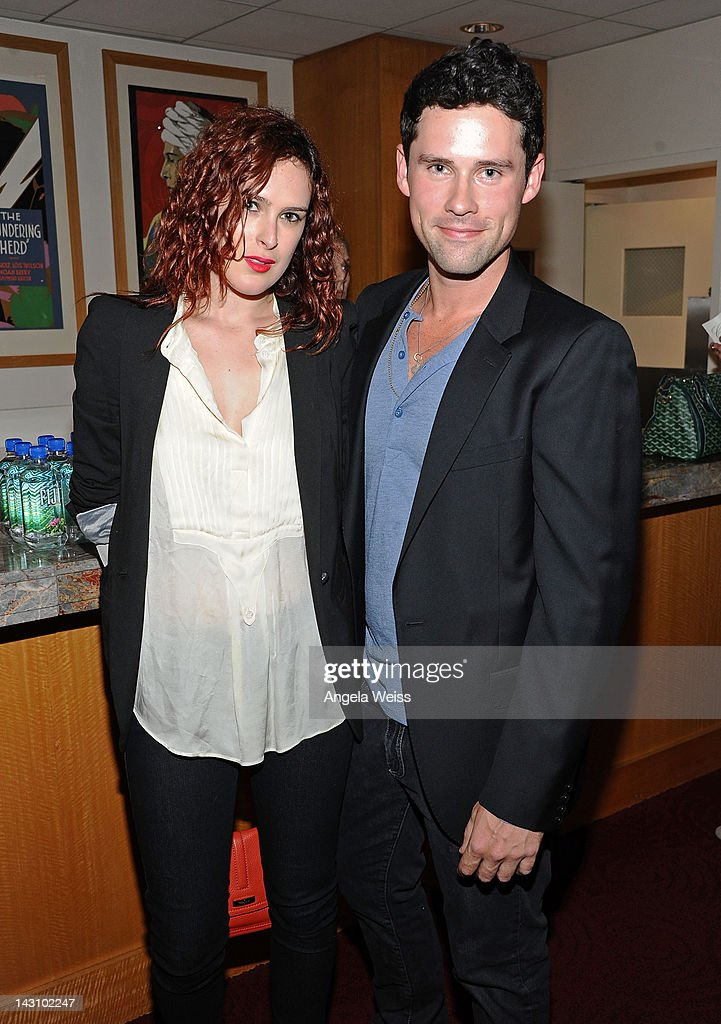 Actors Rumer Willis and Ben Hollingsworth attend the 'Black November' screening on April 18 2012 in Beverly Hills California