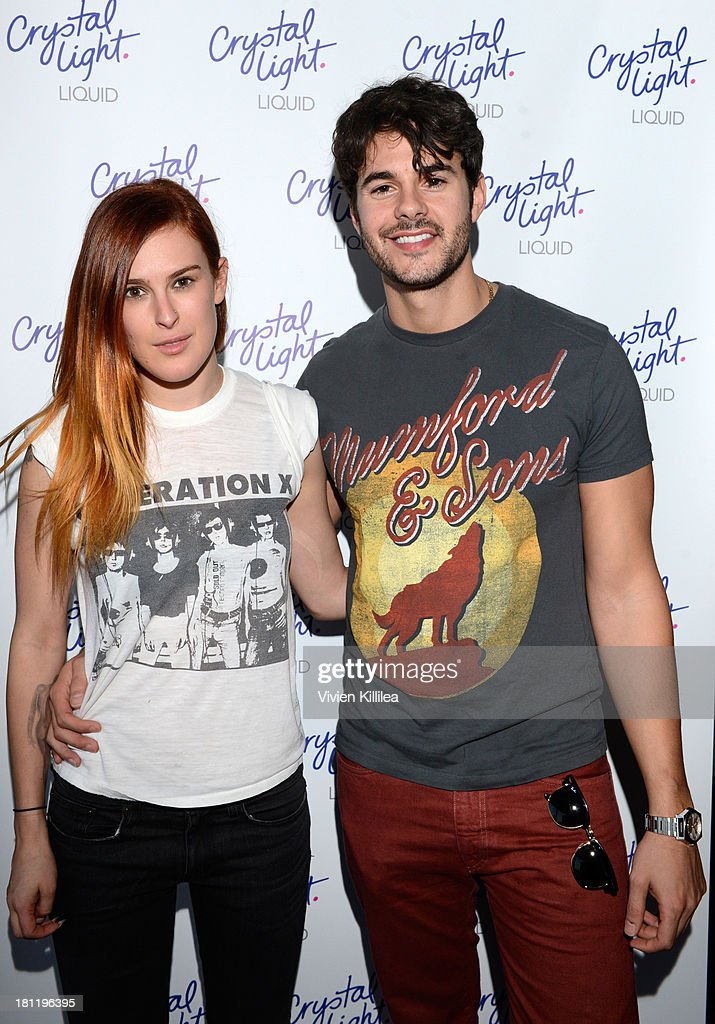Actors <a gi-track='captionPersonalityLinkClicked' href=/galleries/search?phrase=Rumer+Willis&family=editorial&specificpeople=617003 ng-click='$event.stopPropagation()'>Rumer Willis</a> and Jayson Blair stop by Crystal Light Liquid as they toast the Emmys at Kari Feinstein's Pre-Emmy Style Lounge at the Andaz Hotel on September 19, 2013 in Los Angeles, California.