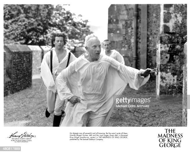 Actors Rupert Graves and Nigel Hawthorne in a scene from the Samuel Goldwyn movie 'The Madness of King George' circa 1994