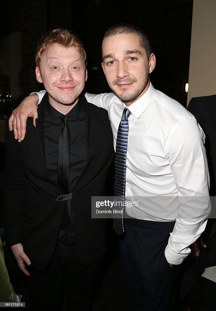 Actors Rupert Grint and Shia LeBeouf attend 'The Necessary Death Of Charlie Countryman' Reception during the 63rd Berlinale International Film Festival at the Glashuette Lounge on February 9, 2013 in Berlin, Germany.