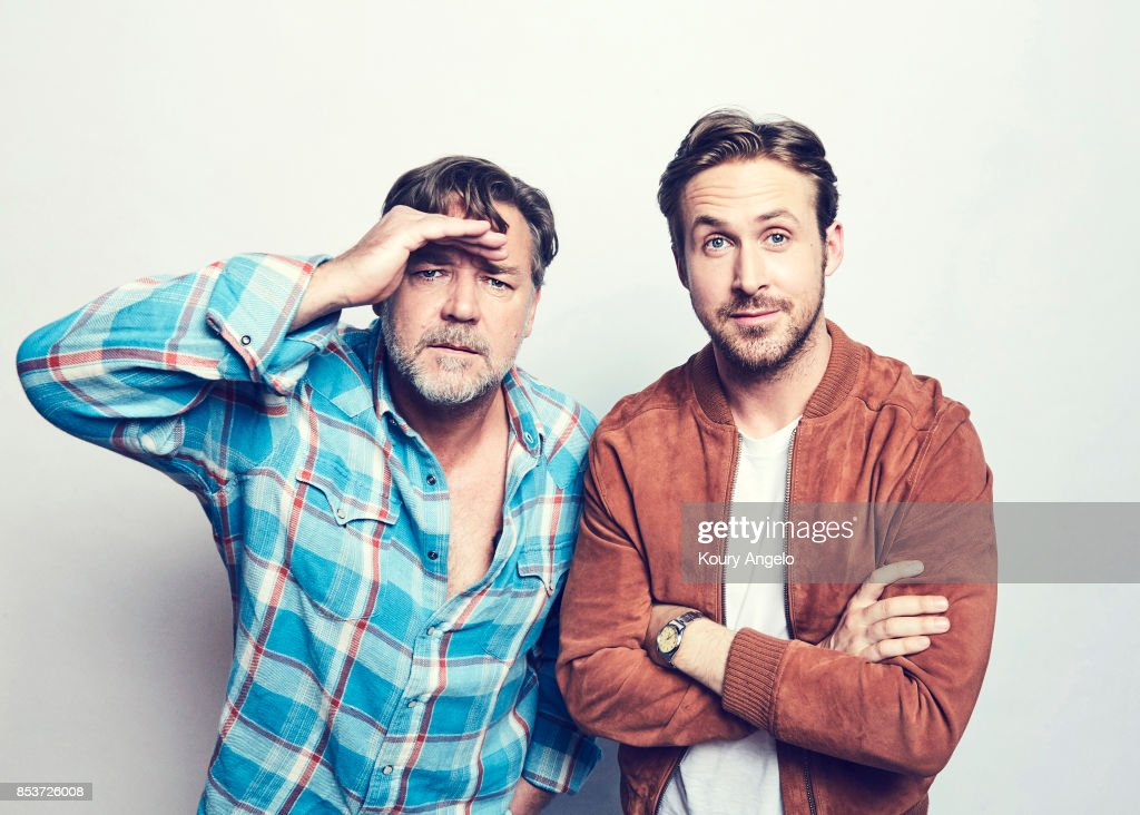 Actors Russell Crowe and Ryan Gosling are photographed for Warner Bros on March 9, 2016 in Los Angeles, California. PUBLISHED