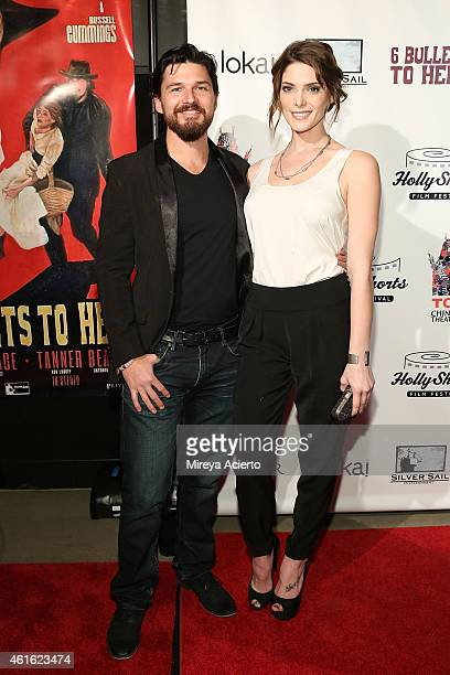 Actors Russell Quinn Cummings and Ashley Greene attend '6 Bullets To Hell' Los Angeles Premiere at TCL Chinese Theatre on January 15 2015 in...