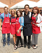 Actors Rusty Joiner Erin Murphy Kate Linder Joe Mantegna and Marilu Henner attends the 'Police And Firefighters Appreciation Day' hosted by the...