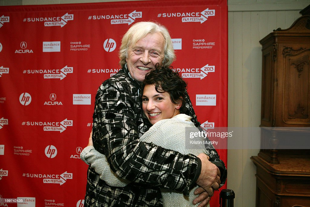 Actors <a gi-track='captionPersonalityLinkClicked' href=/galleries/search?phrase=Rutger+Hauer&family=editorial&specificpeople=228478 ng-click='$event.stopPropagation()'>Rutger Hauer</a> and Manuela Martelli attends 'The Future' premiere at Prospector Square during the 2013 Sundance Film Festival on January 19, 2013 in Park City, Utah.