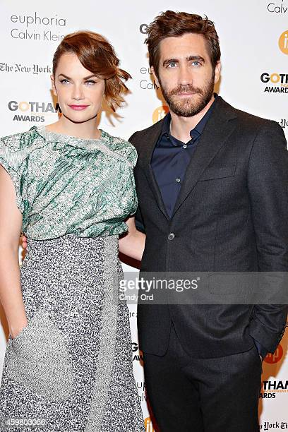 Actors Ruth Wilson and Jake Gyllenhaal attend the 24th Annual Gotham Independent Film Awards at Cipriani Wall Street on December 1 2014 in New York...