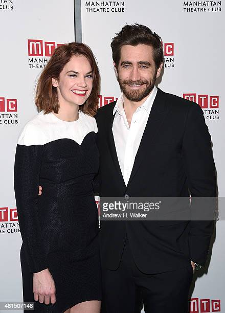 Actors Ruth Wilson and Jake Gyllenhaal attend the 'Constellations' Broadway opening night after party at Urbo NYC on January 13 2015 in New York City
