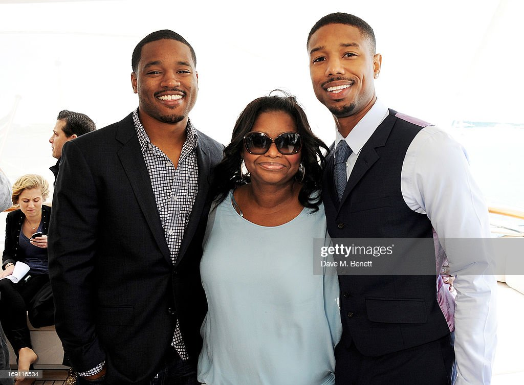 Actors <a gi-track='captionPersonalityLinkClicked' href=/galleries/search?phrase=Ryan+Coogler&family=editorial&specificpeople=7316581 ng-click='$event.stopPropagation()'>Ryan Coogler</a>, <a gi-track='captionPersonalityLinkClicked' href=/galleries/search?phrase=Octavia+Spencer&family=editorial&specificpeople=2538115 ng-click='$event.stopPropagation()'>Octavia Spencer</a> and Michael B. Jordan attend a lunch hosted by Len Blavatnik, Harvey Weinstein and Warner Music during the 66th Cannes Film Festival on board the Odessa at Old Port on May 19, 2013 in Cannes, France.