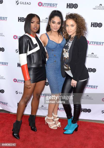 Actors Ryan Destiny Brittany O'Grady and Jude Demorest attend a screening of 'Star at the 2017 Outfest Fusion LGBT People of Color Film Festival at...