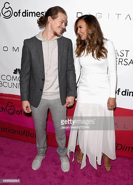 Actors Ryan Dorsey and Naya Rivera attend the March Of Dimes Celebration Of Babies Luncheon honoring Jessica Alba at the Beverly Wilshire Four...