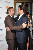 Actors Ryan Gosling and Bradley Cooper attend 'The Place Beyond The Pines' premiere during the 2012 Toronto International Film Festival at Princess...