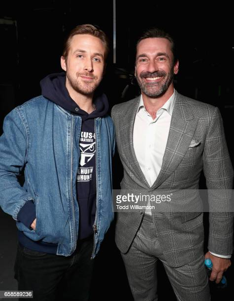 Actors Ryan Gosling and Jon Hamm at the CinemaCon 2017 Gala Opening Night Event Sony Pictures Highlights its 2017 Summer and Beyond Films at The...