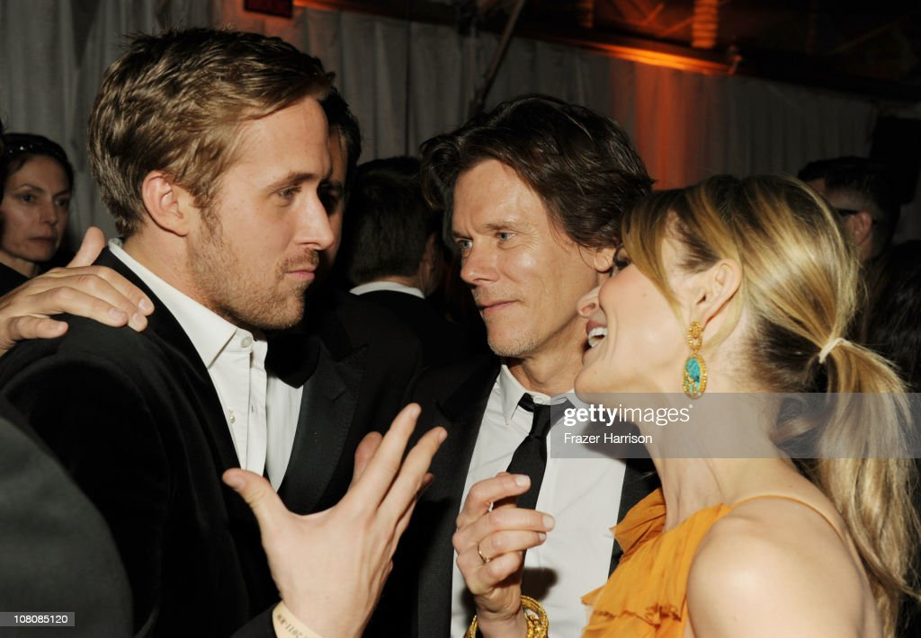 Actors <a gi-track='captionPersonalityLinkClicked' href=/galleries/search?phrase=Ryan+Gosling&family=editorial&specificpeople=214557 ng-click='$event.stopPropagation()'>Ryan Gosling</a>, <a gi-track='captionPersonalityLinkClicked' href=/galleries/search?phrase=Kevin+Bacon&family=editorial&specificpeople=202000 ng-click='$event.stopPropagation()'>Kevin Bacon</a>, and <a gi-track='captionPersonalityLinkClicked' href=/galleries/search?phrase=Kyra+Sedgwick&family=editorial&specificpeople=202514 ng-click='$event.stopPropagation()'>Kyra Sedgwick</a> attend Relativity Media and The Weinstein Company's 2011 Golden Globe Awards After Party presented by Marie Claire held at The Beverly Hilton hotel on January 16, 2011 in Beverly Hills, California.