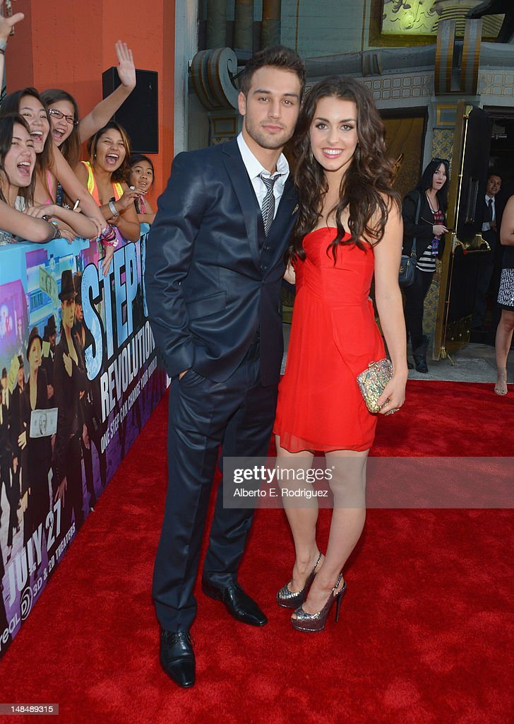 Actors Ryan Guzman and <a gi-track='captionPersonalityLinkClicked' href=/galleries/search?phrase=Kathryn+McCormick&family=editorial&specificpeople=7017400 ng-click='$event.stopPropagation()'>Kathryn McCormick</a> arrive to the Los Angeles premiere of Summit Entertainment's 'Step Up Revolution' at Grauman's Chinese Theatre on July 17, 2012 in Hollywood, California.