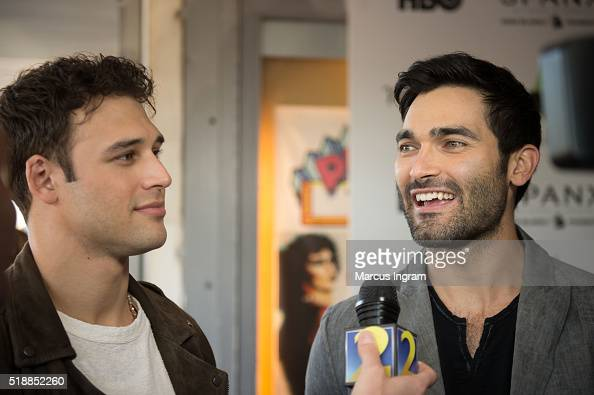 Actors Ryan Guzman and Tyler Hoechlin attend 'Everybody Wants Some' screening during the 40th Annual Atlanta Film Festival at The Plaza Theatre on...