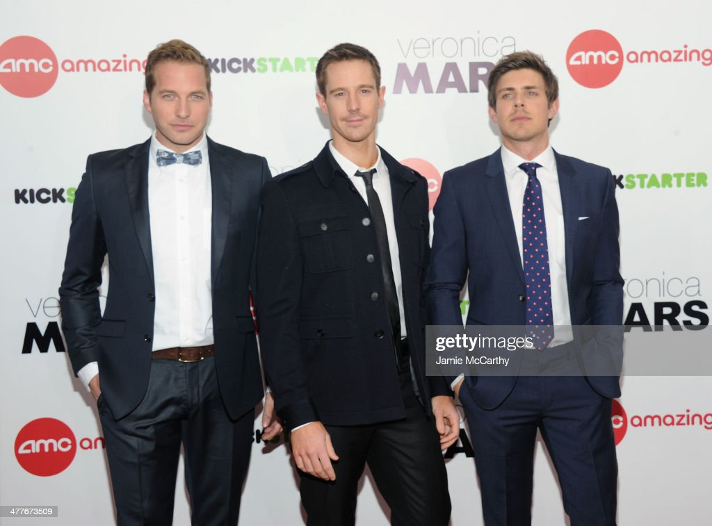 Actors Ryan Hansen, <a gi-track='captionPersonalityLinkClicked' href=/galleries/search?phrase=Jason+Dohring&family=editorial&specificpeople=631070 ng-click='$event.stopPropagation()'>Jason Dohring</a> and <a gi-track='captionPersonalityLinkClicked' href=/galleries/search?phrase=Chris+Lowell&family=editorial&specificpeople=880311 ng-click='$event.stopPropagation()'>Chris Lowell</a> attend the 'Veronica Mars' screening at AMC Loews Lincoln Square on March 10, 2014 in New York City.