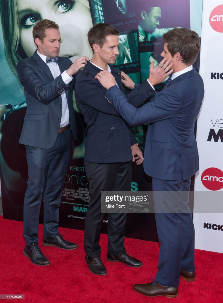 Actors Ryan Hansen, <a gi-track='captionPersonalityLinkClicked' href=/galleries/search?phrase=Jason+Dohring&family=editorial&specificpeople=631070 ng-click='$event.stopPropagation()'>Jason Dohring</a>, and <a gi-track='captionPersonalityLinkClicked' href=/galleries/search?phrase=Chris+Lowell&family=editorial&specificpeople=880311 ng-click='$event.stopPropagation()'>Chris Lowell</a> attend the 'Veronica Mars' screening at AMC Loews Lincoln Square on March 10, 2014 in New York City.