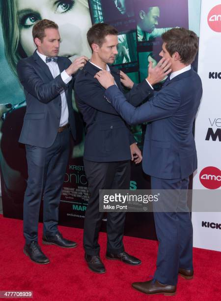 Actors Ryan Hansen Jason Dohring and Chris Lowell attend the 'Veronica Mars' screening at AMC Loews Lincoln Square on March 10 2014 in New York City