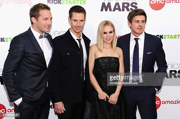 Actors Ryan Hansen Jason Dohring Kristen Bell and Chris Lowell attend the 'Veronica Mars' screening at AMC Loews Lincoln Square on March 10 2014 in...