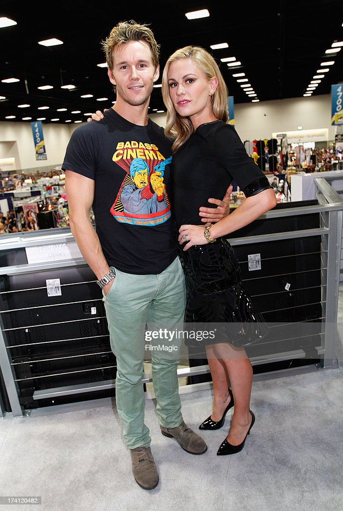 Actors <a gi-track='captionPersonalityLinkClicked' href=/galleries/search?phrase=Ryan+Kwanten&family=editorial&specificpeople=2963828 ng-click='$event.stopPropagation()'>Ryan Kwanten</a> (L) and <a gi-track='captionPersonalityLinkClicked' href=/galleries/search?phrase=Anna+Paquin&family=editorial&specificpeople=211602 ng-click='$event.stopPropagation()'>Anna Paquin</a> attend HBO's 'True Blood' Cast Autograph Signing at San Diego Convention Center on July 20, 2013 in San Diego, California.