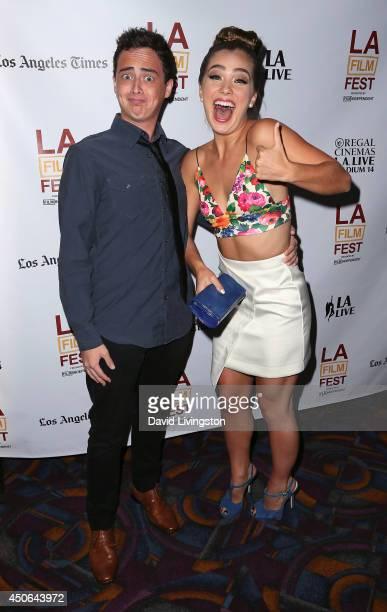 Actors Ryan Malgarini and Haley Lu Richardson attend the 2014 Los Angeles Film Festival screening of 'The Young Kieslowski' at Regal Cinemas LA Live...