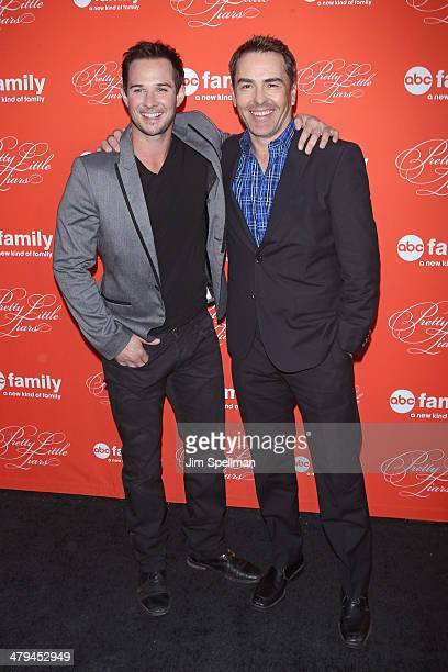 Actors Ryan Merriman and Nolan North attend the 'Pretty Little Liars' season finale screening at Ziegfeld Theater on March 18 2014 in New York City