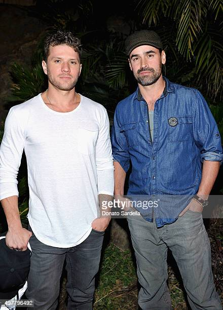 Actors Ryan Phillippe and Jesse Bradford attend Louis XIII Celebration of '100 Years' The Movie You Will Never See starring John Malkovich at a...