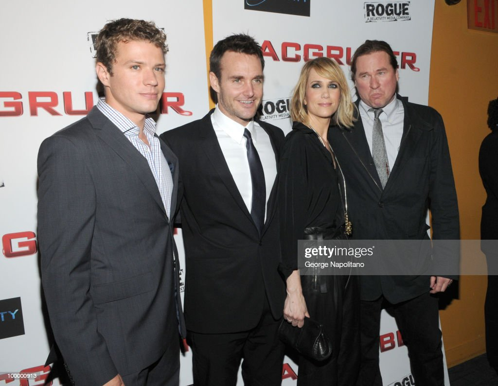 Actors Ryan Phillippe, Will Forte, Kristen Wiig and Val Kilmer attend the premiere of 'MacGruber' at Landmark's Sunshine Cinema on May 19, 2010 in New York City.