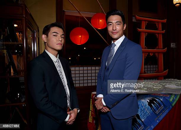 "Actors Ryan Potter and Daniel Henney attend the Walt Disney Animation Studios' ""Big Hero 6"" Premiere After Party at Yamashiro Hollywood on November 4..."