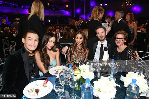 Actors Ryan Potter Genesis Rodriguez and Jamie Chung director Chris Williams and guest attend the 20th annual Critics' Choice Movie Awards at the...