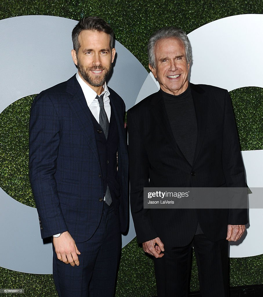 Actors Ryan Reynolds and Warren Beatty attend the GQ Men of the Year party at Chateau Marmont on December 8, 2016 in Los Angeles, California.