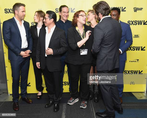 Actors Ryan Reynolds Rebecca Ferguson and Hiroyuki Sanada Director Daniel Espinosa SXSW Film Festival Director Janet Pierson and actors Olga...