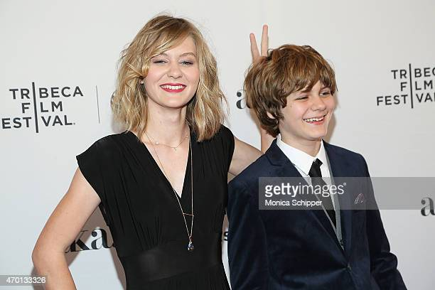 Actors Ryan Simpkins and Ty Simpkins attend the world premiere narrative of 'Meadowland' during the 2015 Tribeca Film Festival at 1 on April 17 2015...