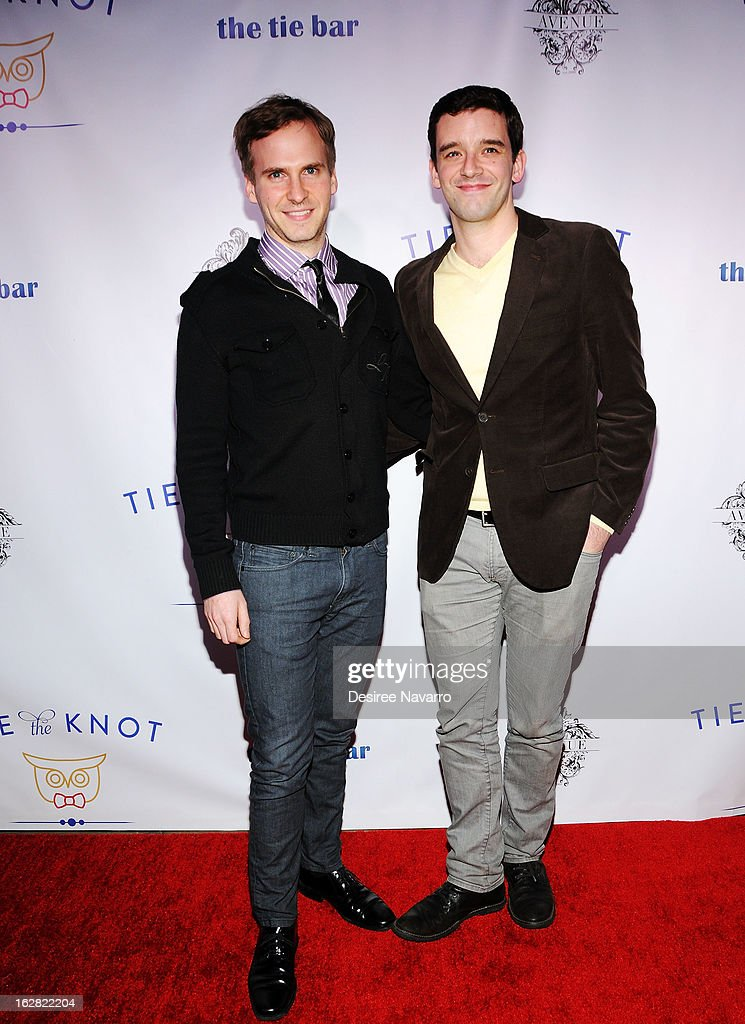 Actors Ryan Spahn and <a gi-track='captionPersonalityLinkClicked' href=/galleries/search?phrase=Michael+Urie&family=editorial&specificpeople=883711 ng-click='$event.stopPropagation()'>Michael Urie</a> attend Tie The Knot NYC at Avenue on February 27, 2013 in New York City.