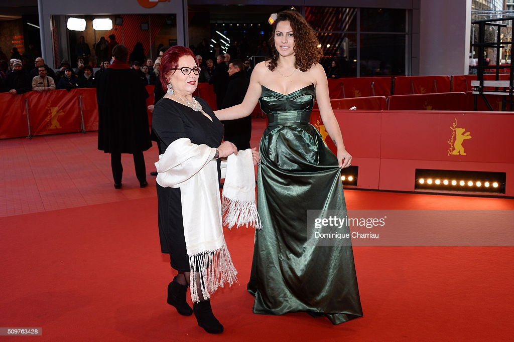 Actors Sabah Bouzouita and Rym Ben Messaoud attend the 'Inhebbek Hedi' premiere during the 66th Berlinale International Film Festival Berlin at Berlinale Palace on February 12, 2016 in Berlin, Germany.