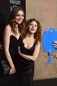 Actors Saffron Burrows and Bernadette Peters attend the screening and QA for Amazon's 'Mozart In The Jungle' at Hollywood Roosevelt Hotel on April 21...