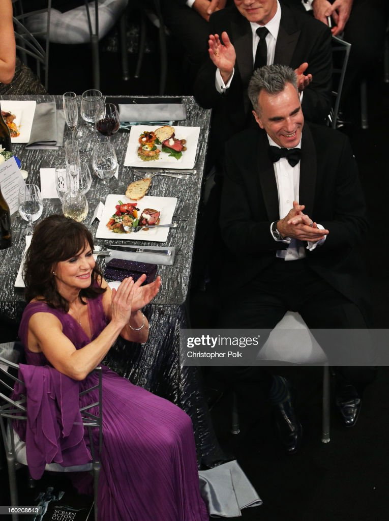 Actors Sally Field (L) and Daniel Day-Lewis attend the 19th Annual Screen Actors Guild Awards at The Shrine Auditorium on January 27, 2013 in Los Angeles, California. (Photo by Christopher Polk/WireImage) 23116_012_1178.jpg