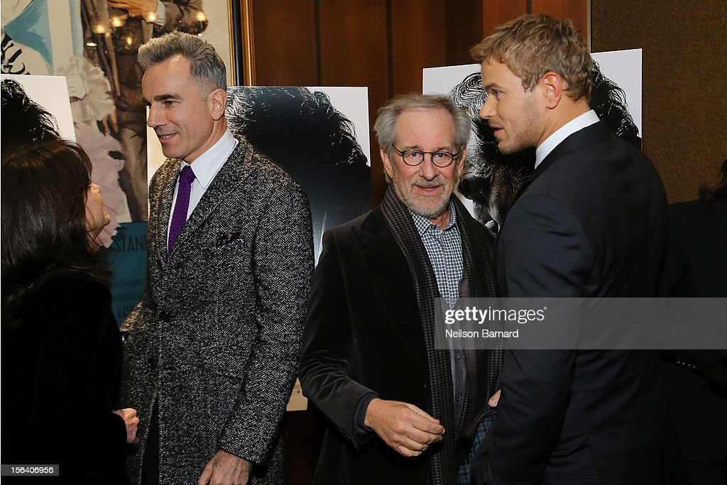 Actors Sally Field and Daniel Day-Lewis, director Steven Spielberg and actor Kellan Lutz attend the special screening of Steven Spielberg's Lincoln at the Ziegfeld Theatre on November 14, 2012 in New York City.