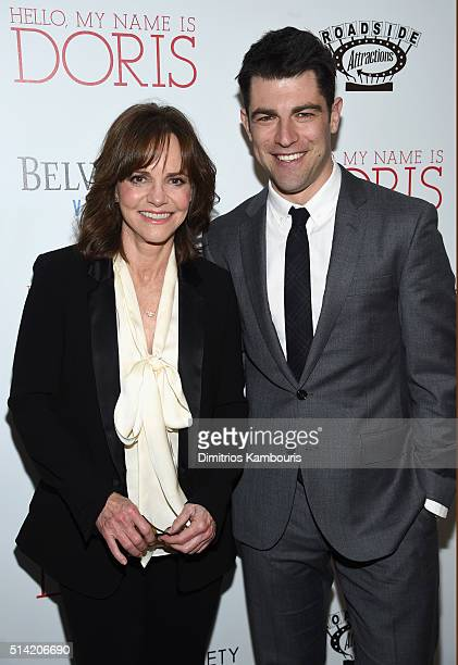 Actors Sally Field and Max Greenfield arrive at the New York premiere Of 'Hello My Name Is Doris' hosted by Roadside Attractions with The Cinema...