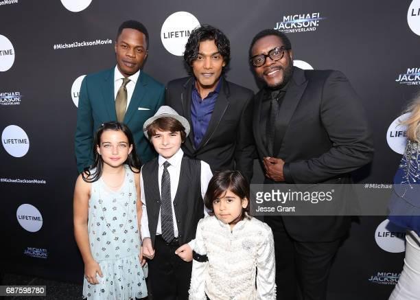 Actors Sam Adegoke Taegen Burns Aidan Hanlon Smith Navi Michael Mourra and Chad L Coleman attend Lifetime's Michael Jackson Searching for Neverland...