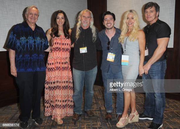 Actors Sam Anderson Robia LaMorte Scott Camden Toy Andrew Ferchland Sophia Crawford and Jeff Pruitt attend WhedonCon 2017 held at Warner Center...