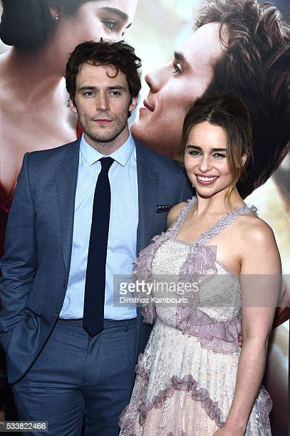 Actors Sam Claflin and Emilia Clarke attend 'Me Before You' World Premiere at AMC Loews Lincoln Square 13 theater on May 23 2016 in New York City