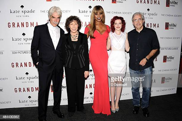 Actors Sam Elliott Lily Tomlin Laverne Cox Julia Garner and writer/director Paul Weitz attend Sony Pictures Classics' screening of 'Grandma' hosted...