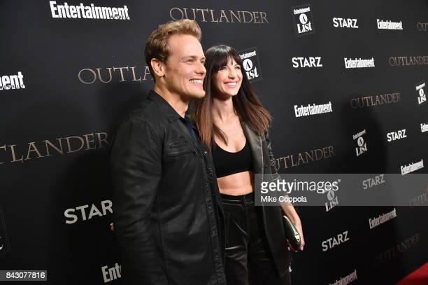 Actors Sam Heughan and Caitriona Balfe attend the New York Red Carpet Premiere of Outlander Season Three Hosted by Starz and Entertainment Weekly in...