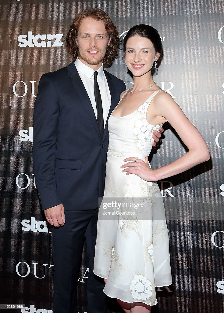 Actors <a gi-track='captionPersonalityLinkClicked' href=/galleries/search?phrase=Sam+Heughan&family=editorial&specificpeople=6931997 ng-click='$event.stopPropagation()'>Sam Heughan</a> and <a gi-track='captionPersonalityLinkClicked' href=/galleries/search?phrase=Caitriona+Balfe&family=editorial&specificpeople=4359165 ng-click='$event.stopPropagation()'>Caitriona Balfe</a> attend the 'Outlander' series screening at 92nd Street Y on July 28, 2014 in New York City.