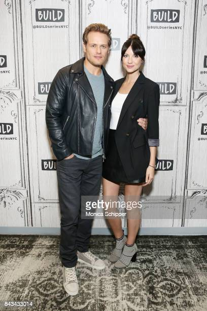 Actors Sam Heughan and Caitriona Balfe discuss 'Outlander' at Build Studio on September 6 2017 in New York City