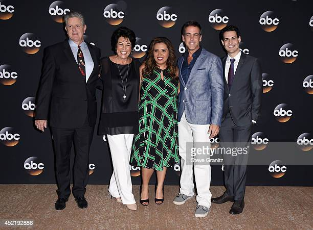 Actors Sam McMurray Terri Hoyos Cristela Alonzo Carlos Ponce and Andrew Leeds attend the Disney/ABC Television Group 2014 Television Critics...