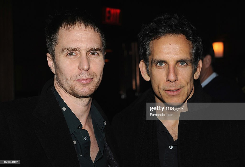 Actors <a gi-track='captionPersonalityLinkClicked' href=/galleries/search?phrase=Sam+Rockwell&family=editorial&specificpeople=213214 ng-click='$event.stopPropagation()'>Sam Rockwell</a> and <a gi-track='captionPersonalityLinkClicked' href=/galleries/search?phrase=Ben+Stiller&family=editorial&specificpeople=201806 ng-click='$event.stopPropagation()'>Ben Stiller</a> (R) attend The Cinema Society With Chrysler & Bally Host The Premiere Of 'Stand Up Guys' After Party at The Plaza Hotel on December 9, 2012 in New York City.
