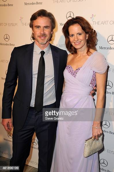 Actors Sam Trammell and Missy Yager arrive at The Art of Elysium's 7th Annual HEAVEN Gala presented by MercedesBenz at Skirball Cultural Center on...