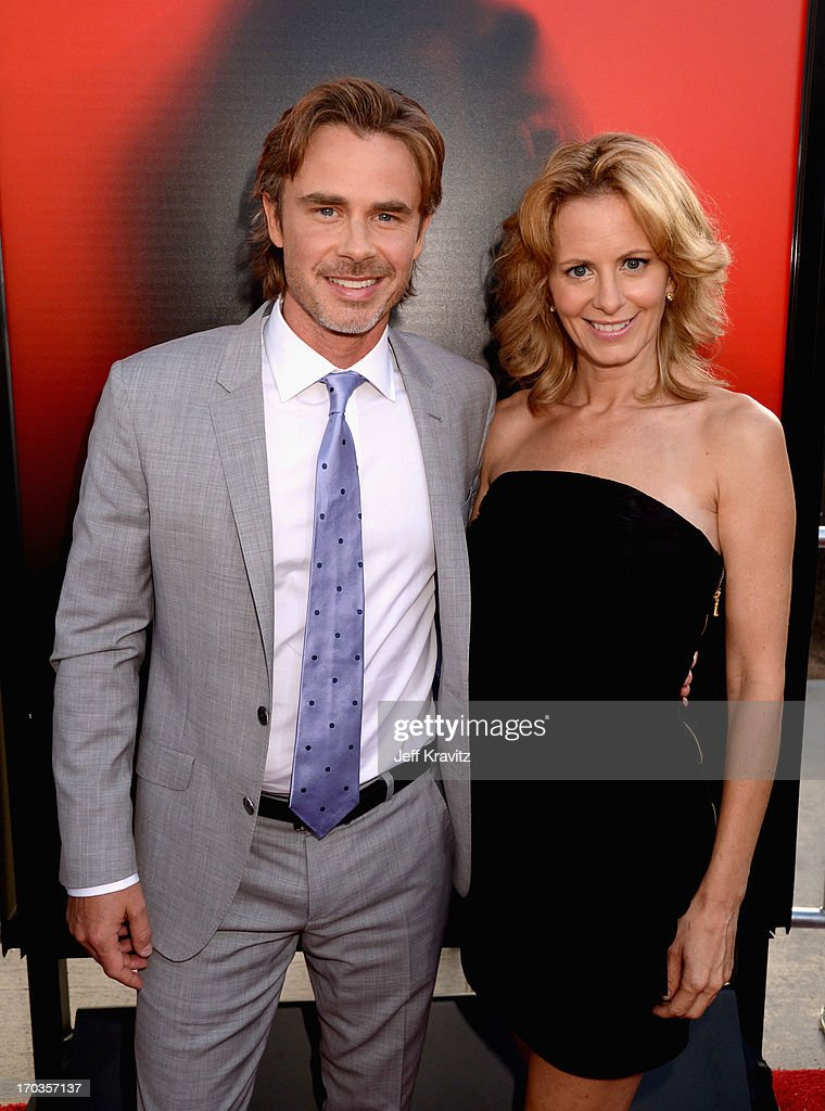 Actors Sam Trammell and Missy Yager attend HBO's 'True Blood' season 6 premiere at ArcLight Cinemas Cinerama Dome on June 11, 2013 in Hollywood, California.